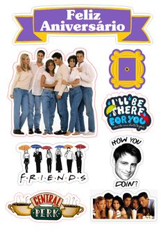 32419961 Top The tv show friends sticker pack stickers Monica Chandler Phoebe Ross Rachel Joey friends references Janice they don't know that we kn… Tv: Friends, Friends Cake, Friends Episodes, Friends Moments, Friends Series, Friends Tv Show, Cool Stickers, Funny Stickers, Friend Birthday