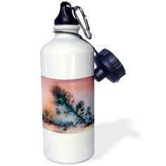 3dRose Nevada. Amethyst sage agate, natural pattern - US29 BJA0050 - Jaynes Gallery, Sports Water Bottle, 21oz