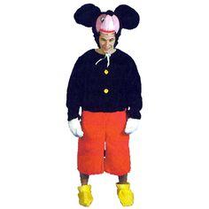 Mickey Mouse code produit : 952-175 6 pièces : Combinaison, 2 Gants, 2 Pieds et Tête.Taille(s) : Unique.