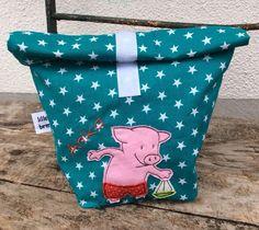 Schwimmbeutel/Tasche für nasse Badesachen/Lunchbag von lillebror made with love auf DaWanda.com