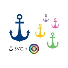 SVG anchor, clipart, template, prints, vector graphics, ship, navy, sea, ocean, printable craft supplies, illustrations, commercial use