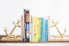A Totally Rad Kid's Room Makeover // boys room, anchor bookends, bookshelf