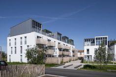 «Maisons sur le toit», 35 logements, éco-quartier Bottière-Chénaie à Nantes.