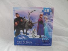 Disney's Frozen 3-D Puzzle 48 Pieces by Cardinal Girls 2014 Ages 4+ Elsa Disney #Disney