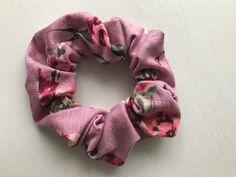 Mauve Floral Scrunchie