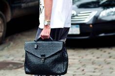 Bottega Veneta Intrecciato Briefcase #bagsandpurses