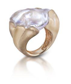 Intriguing Baroque Pearl Ring - Yvel