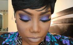 Purple Lipstick for Dark Skin | 10. Purple Fantasy Wedding Makeup for Dark Skin