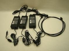 Lot of 3 Delta Electronics AC Power Adapters with USB Cable Cord