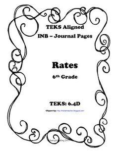 Additive and Multiplicative Relationships INB TEKS 6.4A