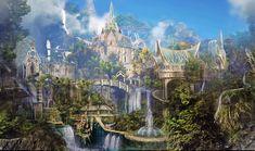 Concept Art Elven City 2