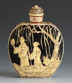Japanese Ivory Snuff Bottle for the Chinese Market
