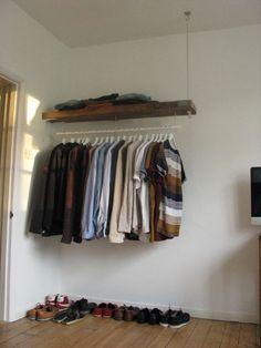 DIY industrial-style-wardrobe