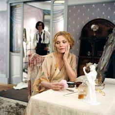 CHERI - Scene with Michelle Pfeiffer as Léa de Lonval and Rupert Friend as Cheri in the Stephen Frears film.