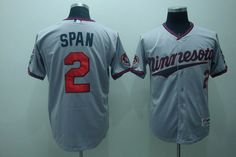 $22.00 MLB Jerseys Minnesota Twins Denard Span #2 Grey