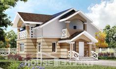 155-009-R Projekt domu dwukondygnacyjnego mansardą, budżetowy domek wiejski z brizolitu, Śląska