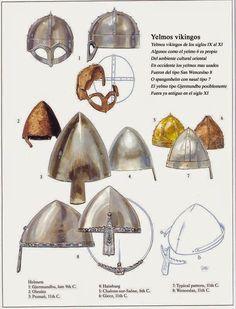 La Hispania de los Vikingos: Tipología de yelmos vikingos
