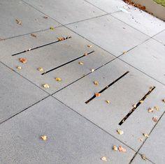 Nearly invisible drainage solution.   FBS Universität Stuttgart Stuttgart - 2009