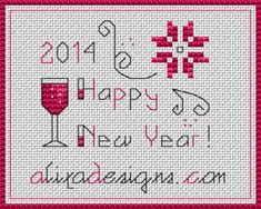 cross stitch happy new year - Google Search