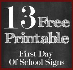 firstdayofschoolsigns
