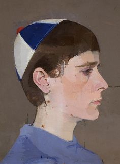 Girl's Head in Profile with Cap On 1963-64, Euan Uglow