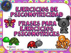 Ejercicios de psicomotricidad. Frases para ejercicios psicomotrices V ANIMALES - Imagenes Educativas