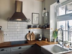 New Homes, Kitchen Cabinets, Table, House, Furniture, Home Decor, Decoration Home, Home, Room Decor