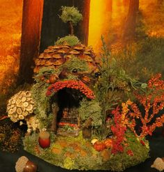 Fairy House- Acorn Miniature House by WoodlandFairyVillage, $58.99