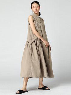 Super Loose False-two Cotton Long Dress 44c19e7f08