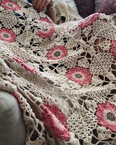 Finished another pretty rustic lace for a very special baby girl