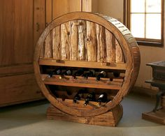 Wagon Wheel Wine Cabinet
