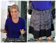 Kelly Ripa 11-19-12   Top: French Connection   Skirt: Proenza Schouler... Visit http://dadt.com/live/fashion-finder-archive.html to see more of Kellys outfits #KellyandMichael #FashionFinder
