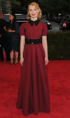 MIA WASIKOWSKA in PRADA at the MET GALA 2012!