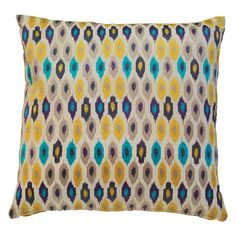 Marrakesh Pillow in Purple and Yellow by Global Views