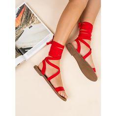 Lipstik Bills Sandals (330 DKK) ❤ liked on Polyvore featuring shoes, sandals, flame red, lipstik, lipstik shoes, red sandals, red shoes and lipstik sandals