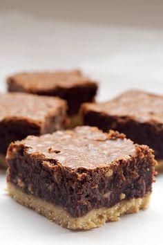 Nutella-Salted Shortbread Brownies from Bake or Break
