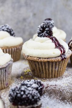 Blackberry Bourbon Cupcakes