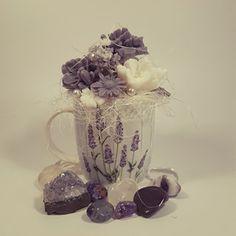Levandulová mýdlová kytička Lavender soap bouquet Lavender Soap, Bouquet, Vase, Mugs, Tableware, Home Decor, Homemade Home Decor, Dinnerware, Bouquets