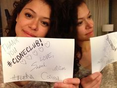 Twitter / tatianamaslany: We couldn't have done it without ...