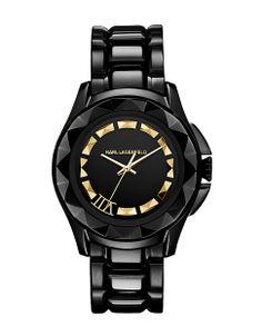 Black Stainless Steel Watch by Karl Lagerfeld, $295 | #HudsonsBayHoliday