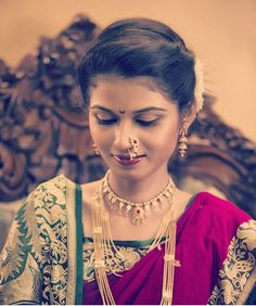 Maharashtrian bridal makeup get the perfect look in 10 easy steps - 1000 Images About On Pinterest Gudi Padwa Saree