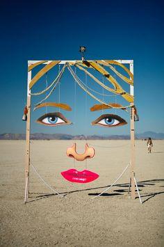 Urban art at the beach summer sea Contemporary street art Dalì Surrealism Graffiti, Tachisme, Bühnen Design, Photowall Ideas, Burning Man Art, Burning Man Sculpture, Art Public, Street Art, Instalation Art