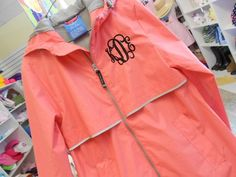 Hey, I found this really awesome Etsy listing at http://www.etsy.com/listing/153078221/monogram-rain-jacket-font-shown