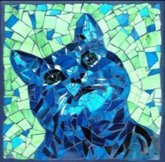 "Cat Mosaic, ""Winston"" by petmosaics.com"
