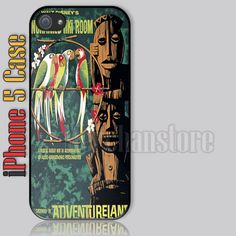 Tiki Room Vintage Disney Custom iPhone 5 Case Cover
