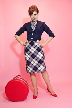 Boarding the next #panam flight! $95.00 #vintage #plaid #1960s #nautical #clothing