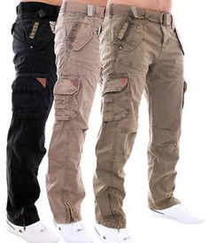 GEOGRAPHICAL-NORWAY-MEN-039-S-TROUSERS-LEISURE-TROUSERS-CARGO-TROUSERS-ARMY-PANTS