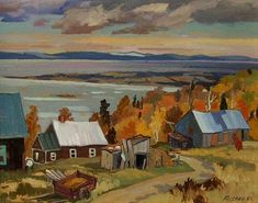"""""""Les Eboulements, Quebec,"""" Marcel Fecteau, oil on canvas; 16 x 20"""", private collection."""