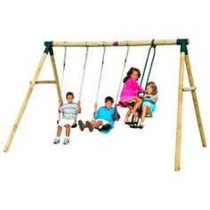 Plum Colobus Wooden Swing Set Plum Colobus Wooden Swing Set.This Plum Colobus wooden swing set is perfect for providing your children with hours of fun outdoor play and exercise. (Barcode EAN=5036523025447) http://www.MightGet.com/april-2017-1/plum-colobus-wooden-swing-set.asp