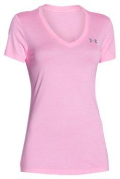 Under Armour Novelty Tech V-Neck T-Shirt for Ladies - Pink Craze - XL 6e41fba559a